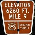 Image for Everitt Memorial Highway, California - Mile 9 - Elevation 6260