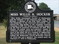 Image for Miss Willie K. Hocker