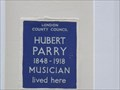 Image for Hubert Parry - Kensington Square, London, UK