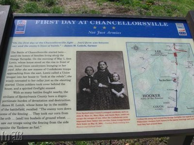[Not Just Armies] - The Battle of Chancellorsville started among the homes of families that lived along the Orange Turnpike.