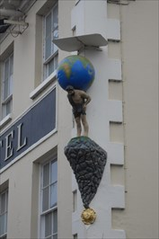 ..on the Globe Hotel.
