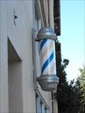Image for Barber pole at Thrifty Cuts - Santa Cruz. California