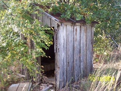 """Outhouse at Whitesand Church, by MountainWoods.  """"I do not have to go THAT bad!"""""""