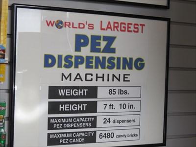 PEZ Dispenser Dimensions, Burlingame, California
