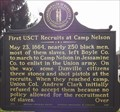 Image for First USCT Recruits at Camp Nelson