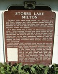Image for Storrs Lake Milton Historical Marker