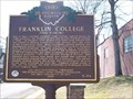 Image for Franklin College, Alma Academy / Cornerstone of Civil Rights (Marker #3-34)