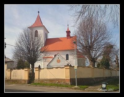 Sundial on St. James Church (Kostel sv. Jakuba) , Vysoký Újezd nad Dedinou