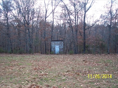 Outhouses at Vine Hill School/Church, by MountainWoods.  This shows the privy from the men as taken from near the hand-operated pump along the left side of the building.