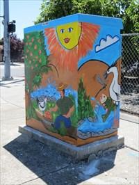 Shaded Utiltity Box Sides, San Jose, CA