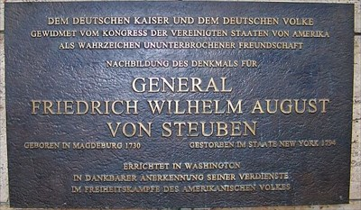 Plaque at the Statue