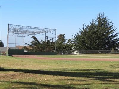 Backstop from Right Field, San Francisco, California