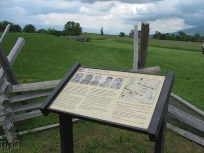 10 cadets from VMI were killed or fatally wounded here at the Battle of New Market.