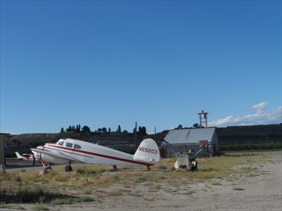 A vintage aircraft at Anderson Field.