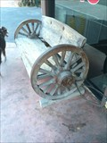 Image for Beachcomber Wagon Wheel Bench - San Clemente, CA