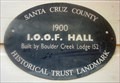 Image for Blue Plaque: I.O.O.F. Building in Boulder Creek