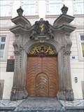 Image for Baroque door, Snemovni street, Czech republic