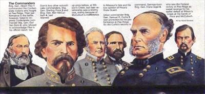 THE COMMANDERS AT PEA RIDGE