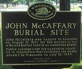Image for John McCaffery Burial Site - Kenosha, WI