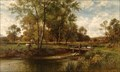 Image for In The Meadow, Youngsbury by Alfred Augustus Glendening – Youngsbury, Thundridge, Herts, UK