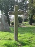 Image for Wooden Grave Cross - St Margaret's Church, Church Lane, Little Staughton, Bedfordshire, UK