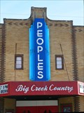 Image for People's Theater Sign - Pleasant Hill, Mo.