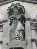 Image for Monarchs – King Henry I of England on side of city hall - Bradford, UK