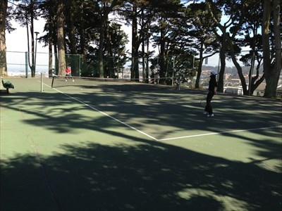 Holly Park Tennis Court, Looking SE, San Francisco, California
