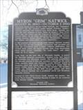 """Image for Myron """"Grim"""" Natwick Historical Marker"""