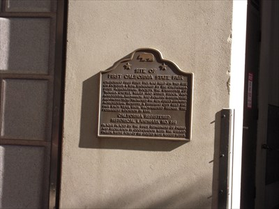 The CA Historical Marker.