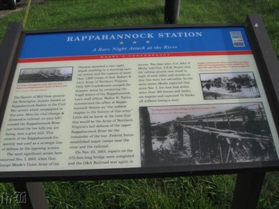 CWDT Marker: A Rare Night Attack at the River -- the Union launched a late attack and captured the Confederate defenders at the Rappahannock River crossing.