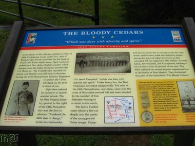 Union regiments suffered such great losses among the cedars, they were dubbed `The Bloody Cedars`.