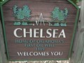Image for Chelsea - Artistic Welcome Sign - Oklahoma, USA.