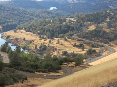 Looking Down Face to Outlet, Oroville, California