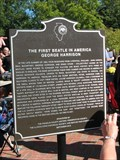 Image for The First Beatle in America George Harrison marker  - Benton, IL