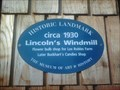 Image for Blue Plaque: Lincoln's Windmill