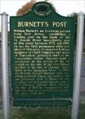 Image for Burnett's Post Historical Marker