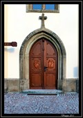 Image for Door of Holy Trinity Church, Horni Jeleni, Czech Republic