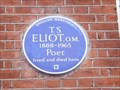 Image for T S Eliot - Kensington Court Place, London, UK