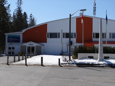 in front of the community centre