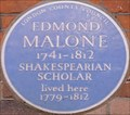 Image for Edmond Malone - Langham Street, London, UK