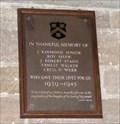 Image for Memorial Plaque - All Saints Church, Silkstone, Barnsley, U.K.