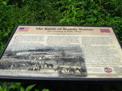 The Battle of Brandy Station started at Kelly`s Ford.