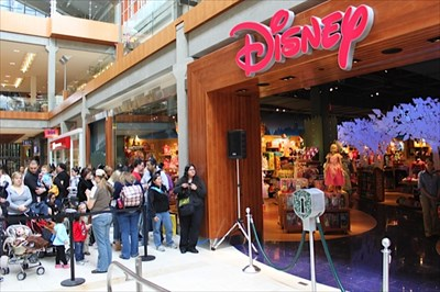 This is from May of 2011, The Disney Store Reopened. This is what it looks today.