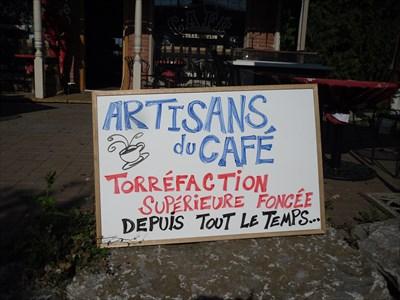 Artisan du café, torréfaction supérieur foncé.