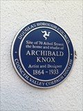 Image for Archibald Knox blue plaque.