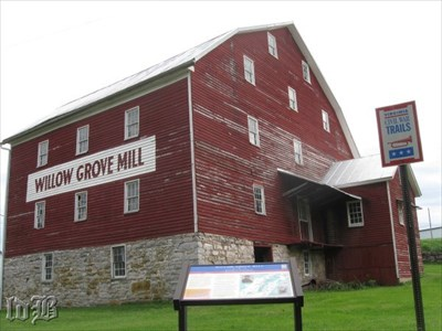 This mill is one of 2 still standing after the `Burning` of 1864.