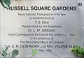 Image for T S Eliot - Russell Square Gardens, London, UK