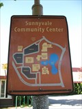 """Image for """"You are here sign"""" by fountain at Sunnyvale Community Center - Sunnyvale, CA"""