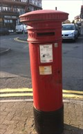 Image for Victorian Pillar Box - Station Approach, Penarth, Wales, UK